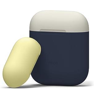 elago AirPods Duo Funda de Silicona [2 Caps & 1 Body AirPods Case] [