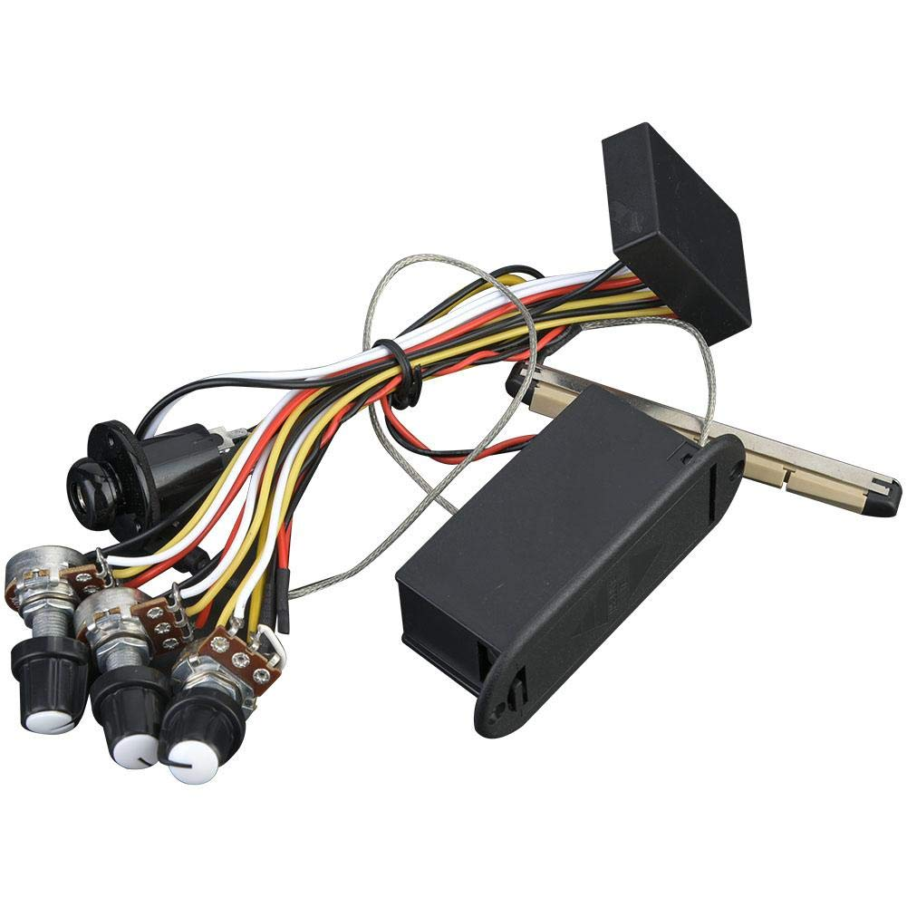 2-Band Preamp Circuit For Bass Guitar Amplifier Equalizer Can Be Connected With EQ Pickup