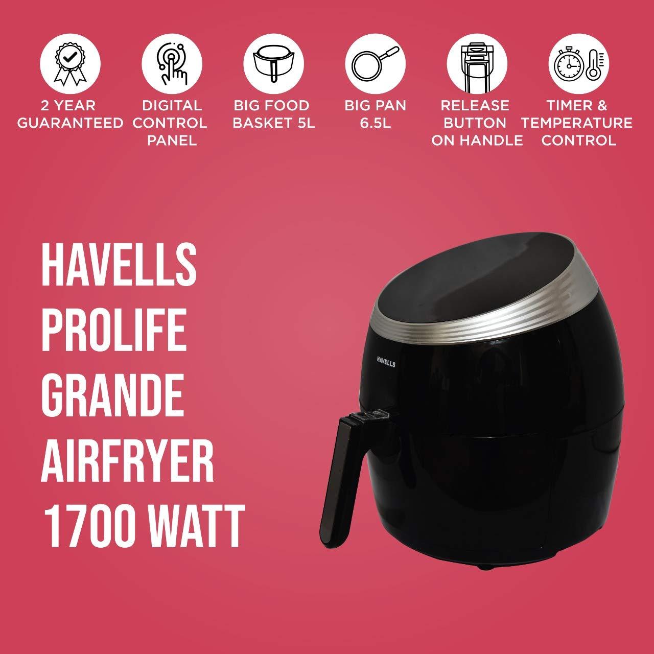 Havells air fryer: Havells prolife grande air fryer