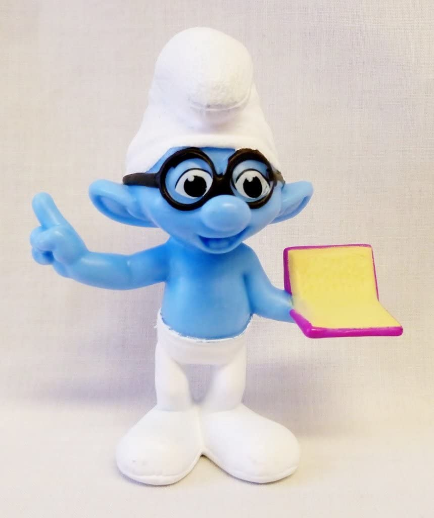 Amazon Com Mcdonalds The Smurfs 2 Happy Meal Toy 2013 Brainy 5 Toys Games