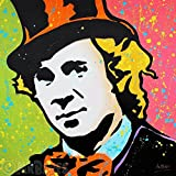 MR.BABES - ''Willy Wonka (Gene Wilder)'' - Original Pop Art Painting - Movie Portrait