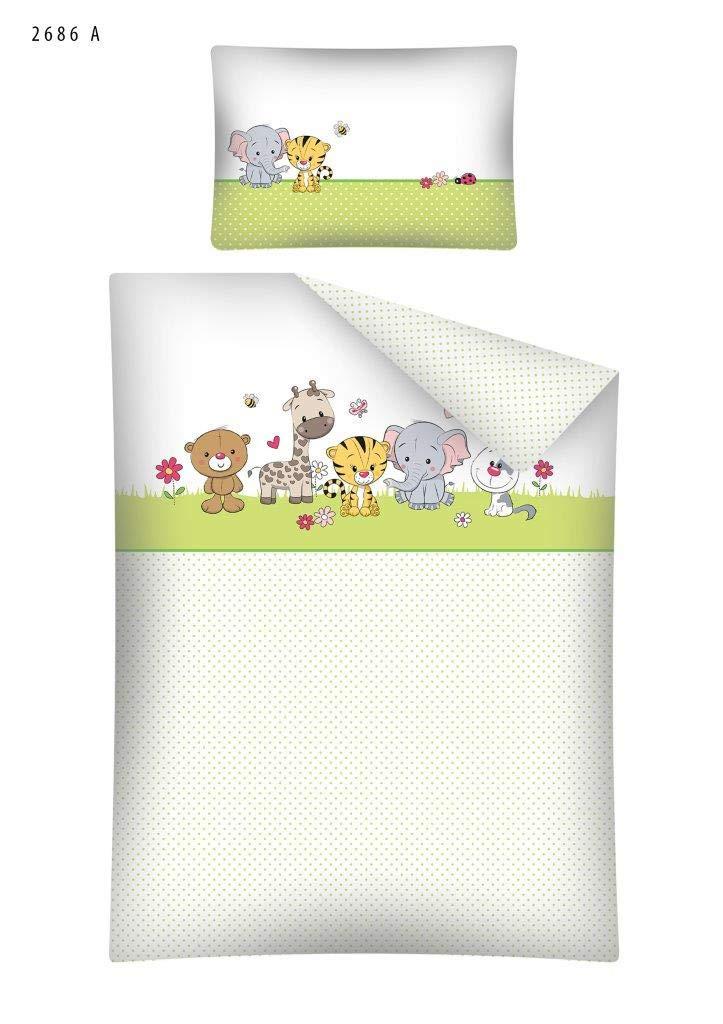 Kinderbettwäsche Bettwäsche 100x135 + 40x60 Eule Tiere 2686A Babybettwäsche Detexpol