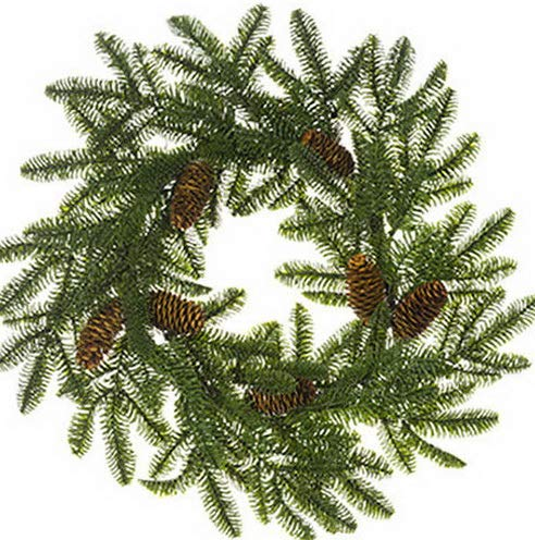 Mikash 24 Noble Fir Pinecone Artificial Hanging Wreath -Green (Pack of 2) | Model WRTH - 231 - Fir Roman Wreath