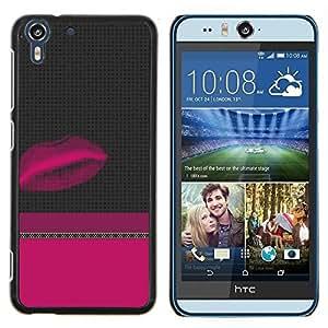 Stuss Case / Funda Carcasa protectora - Púrpura Gris Dos minimalista Tono - HTC Desire Eye M910x