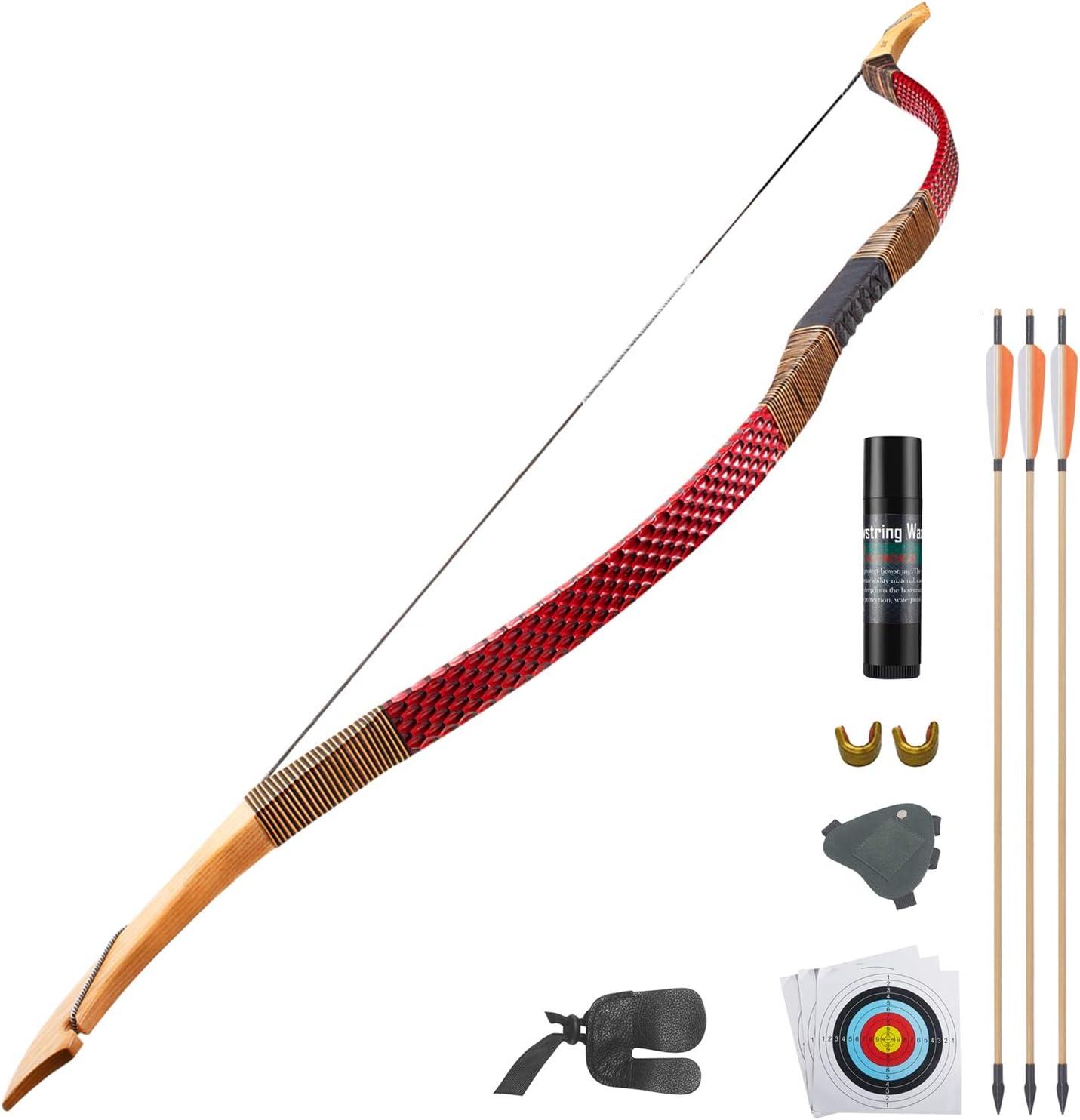 KAINOKAI Traditional Handmade Hunting Recurve Archery Bow