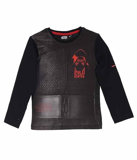 Star Wars - Camiseta de manga corta - para niño negro 10 años