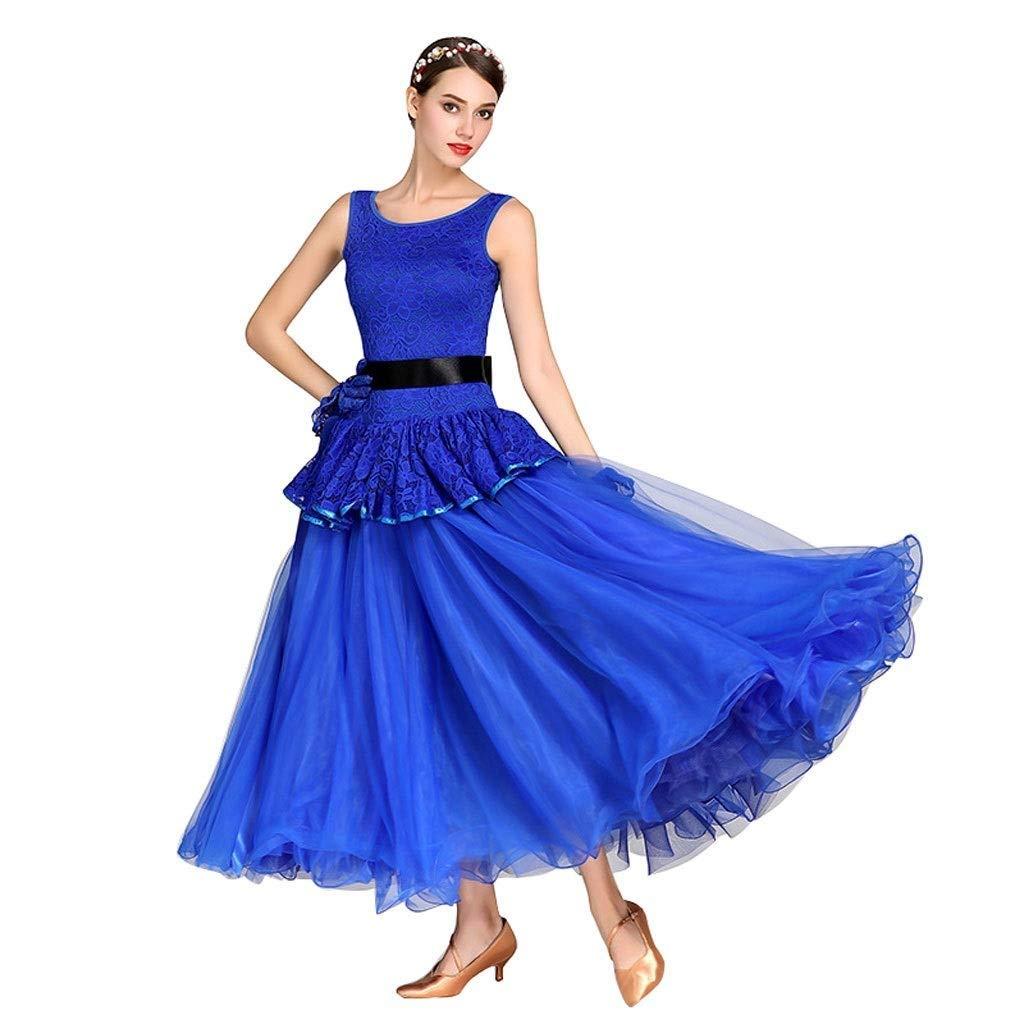 大流行中! モダンダンスワルツノースリーブワンピーススリム国立社交ダンスダンスコンペロングAラインスイングスカート L B07QBXZS4F L l|ブルー l|ブルー ブルー L B07QBXZS4F l, Used Clothing Sixpacjoe:802502ff --- a0267596.xsph.ru