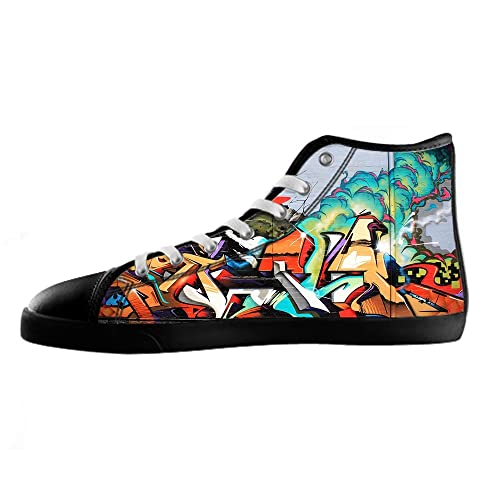 39863232b2 Custom graffiti Men s Canvas Shoes Footwear Sneakers Shoes  Amazon.co.uk   Shoes   Bags