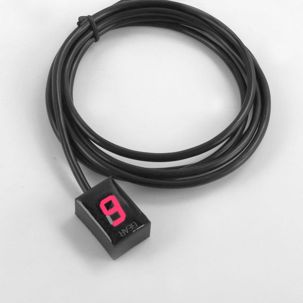 Indicateur de Vitesse /étanche pour Moto Affichage LED Plug /& Play pour Honda Bleu