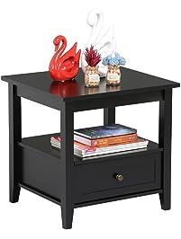 end table living room. Topeakmart Black End  Tables Amazon com