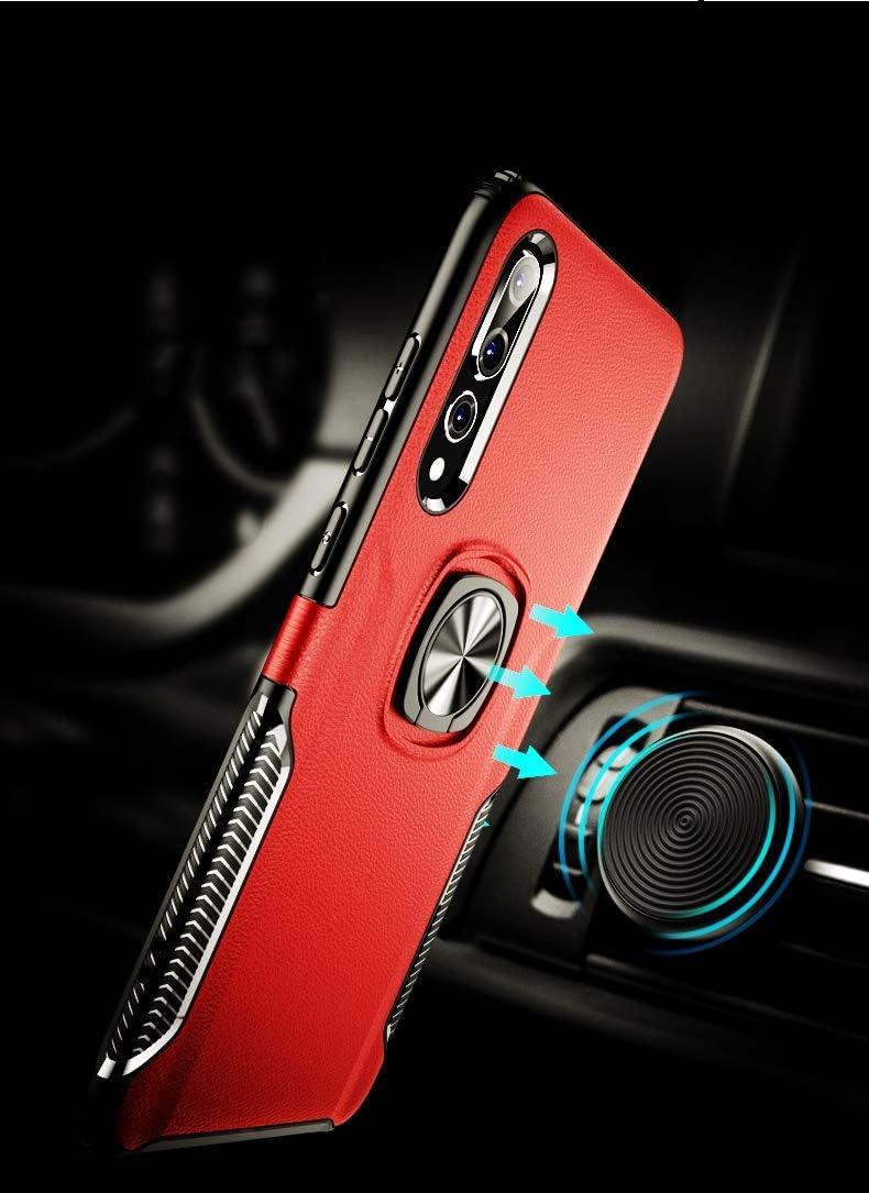 SORAKA Funda para Huawei P20 Pro,Transparente Carcasa con Soporte para Anillo,Compatible con Soporte M/óvil Coche Magn/ético