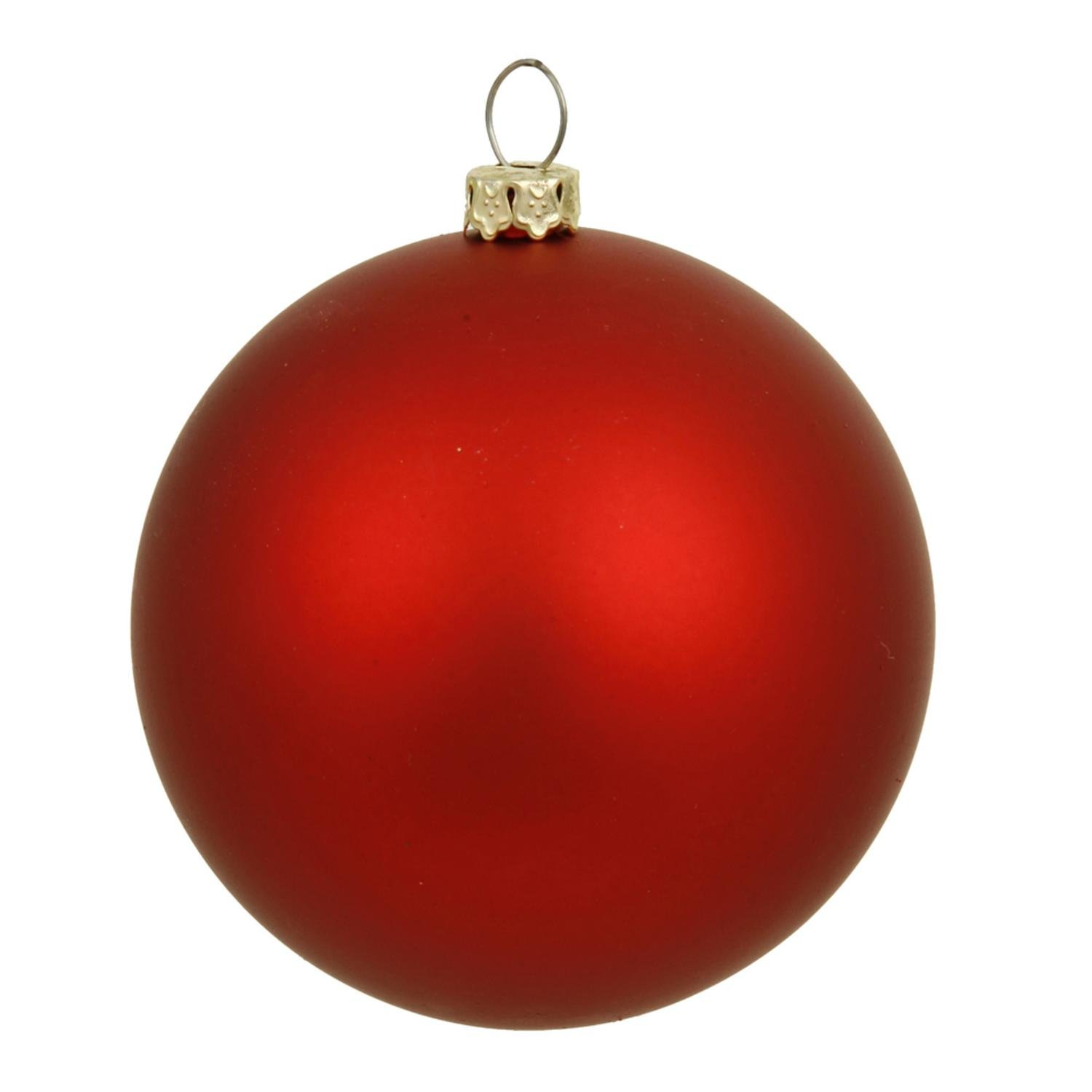 By Vickerman Matte Red UV Resistant Commercial Drilled Shatterproof Christmas Ball Ornament 15.75''(400mm)