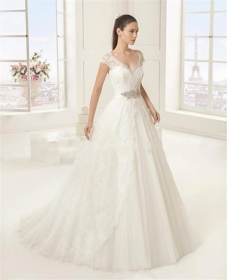 5c874b462106 LUCKY-U Vestito da Sposa Abito da Sposa Lungo Morbido Touchable Vestito  Elegante Abito da