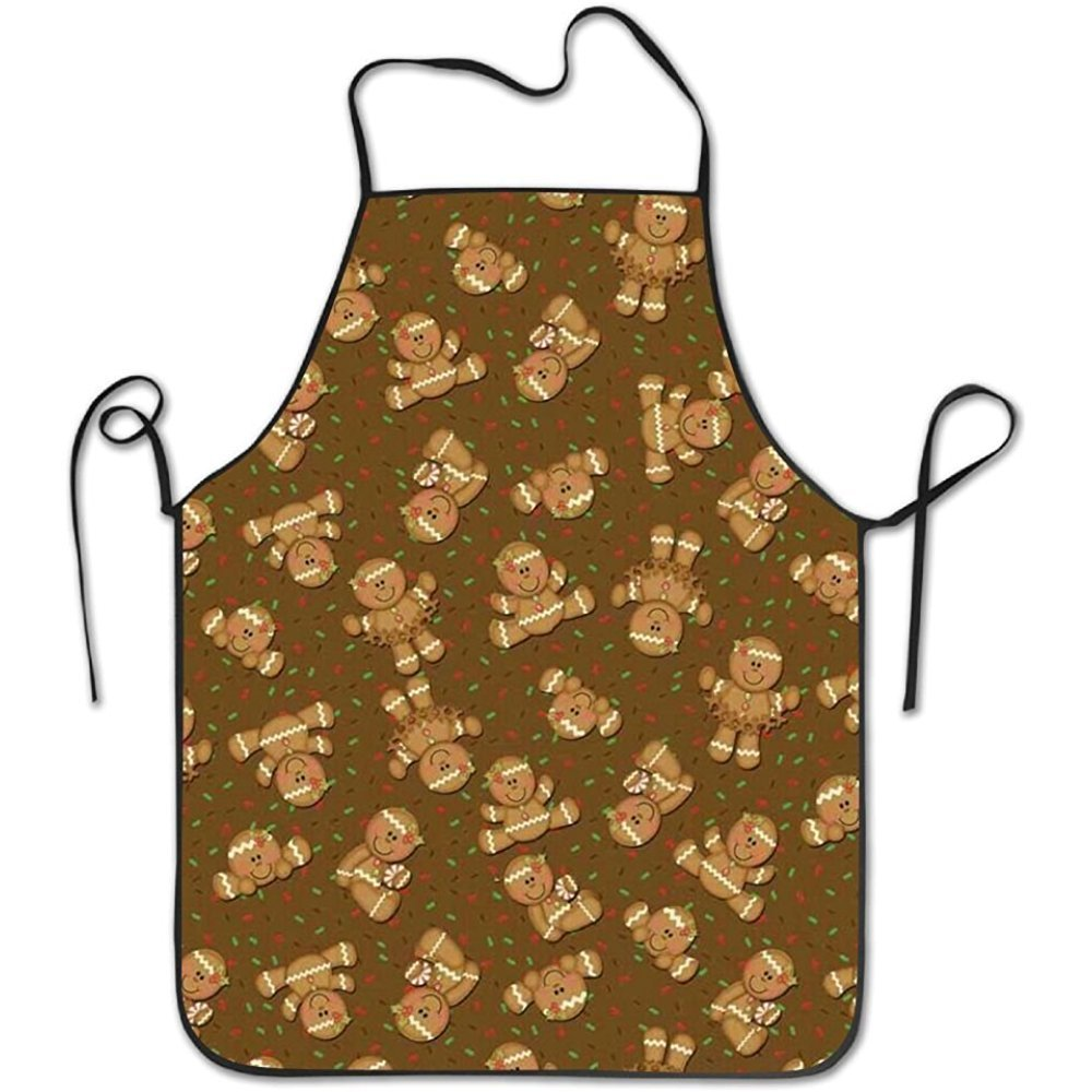 starmiami Gingerbread Man Creative Intended Adult Kitchen Apron One Size Fits Pocket Bib
