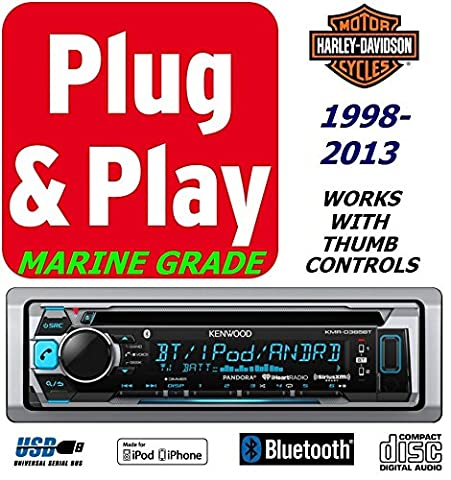 Plug -And -Play Harley Touring 1998-2013 Kenwood Cd Marine Radio Stereo Pre Installed and Programmed