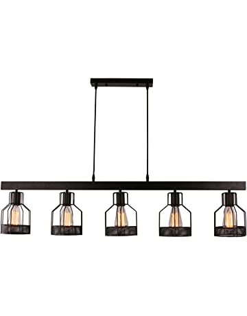 Lighting island Lighting Ideas Unitary Brand Antique Black Metal Long Kitchen Island Light With E26 Bulb Sockets 200w Painted Amazoncom Island Lights Amazoncom Lighting Ceiling Fans Ceiling Lights