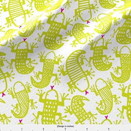 Lizard Fabric Lizards Love Highlighters by Zapi Printed on Minky Fabric by the Yard by - Printed Custom Highlighters