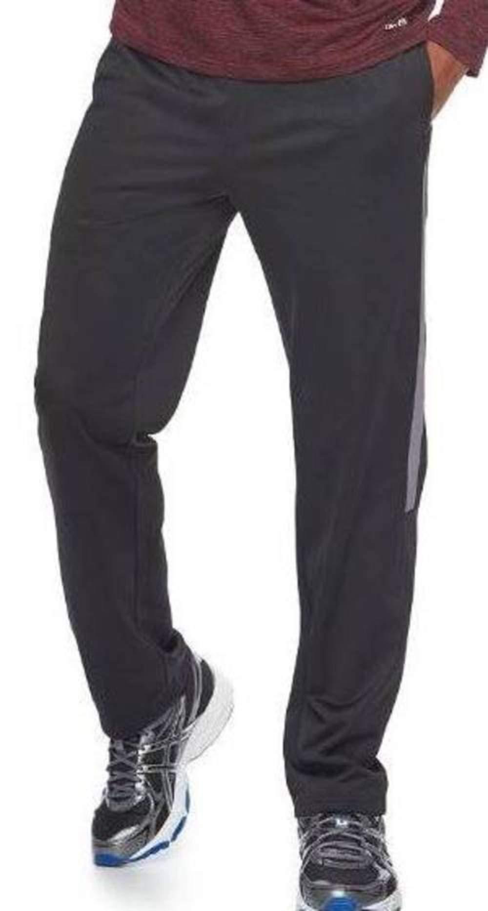 Tek Gear Men's Black Gray Active Athletic Sweat Track Pants-Size 2XL by Tek Gear