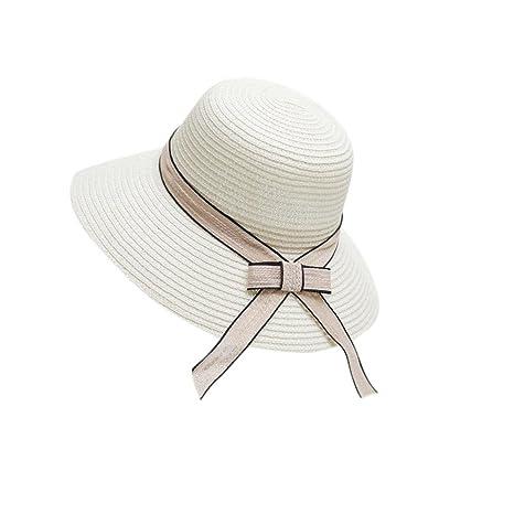 Samber Sombreros Paja de Verano para Mujer Sombreros de Playa para el Sol  Gorros con Lazo e8c8a895343