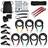 "FitCord ""BRUTE"" Band Load Kits. American Made. Home & Portable Gyms. 7 Highest Grade Safety Sleeve Bands, Handles, Door Anchor, Ankle & Wrist Straps, Bag & Exercise Manual.."