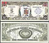 Blackjack Casino Night One Million Dollar Novelty Bill -Lot of 100 Bills