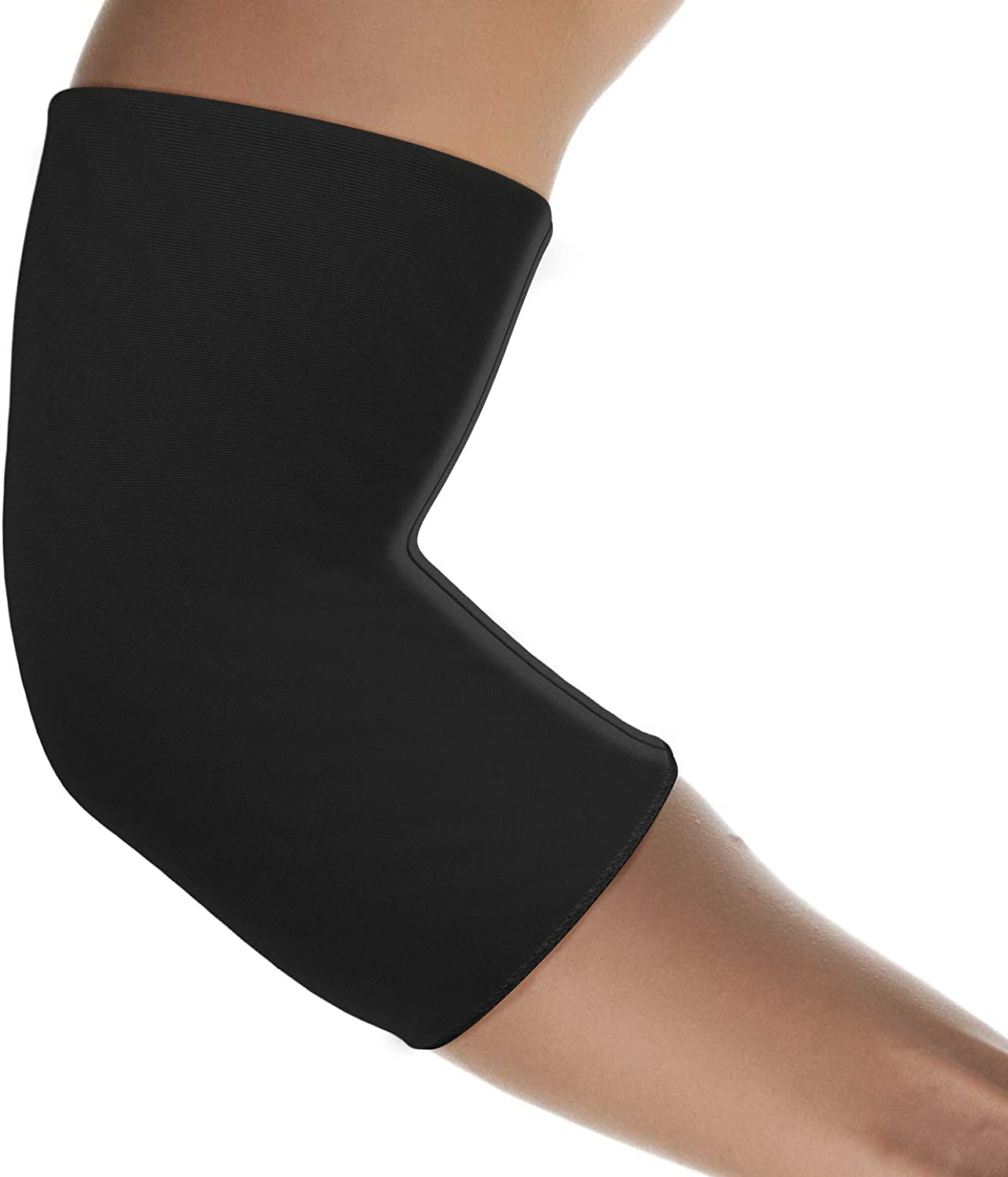 bonmedico Maniko Elbow Ice Pack Brace - Cool and Heat Elbow Brace for Men & Women, Elbow Sleeve Ice Packs for Muscle Pain Relief, Black