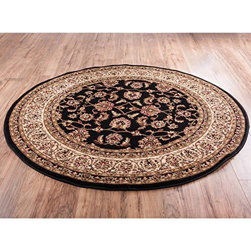- Well Woven Barclay Sarouk Black Traditional Area Rug 3'11