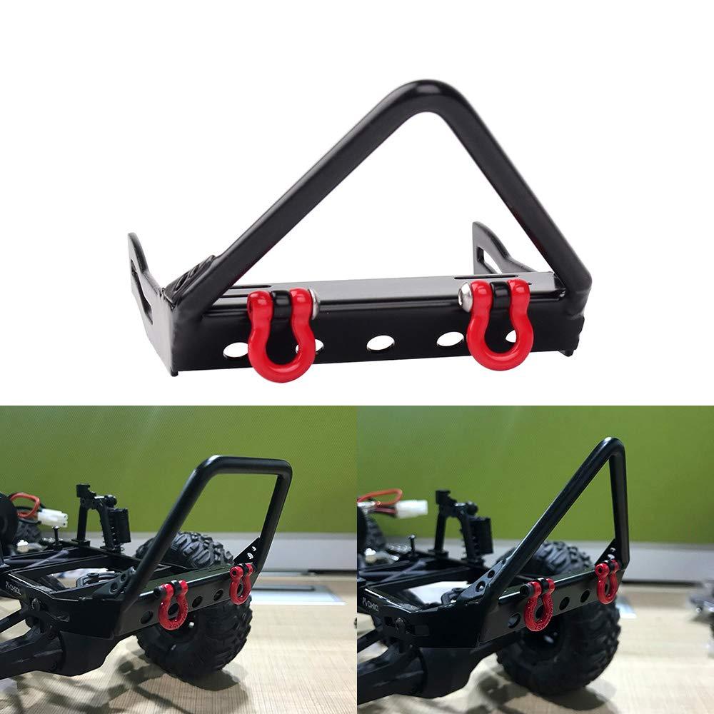 INJORA Metal Front Bumper for 1/10 RC Crawler Jeep Wrangler Rubicon Axial SCX10 D90 Traxxas TRX-4 (A) 61SQzVsNrIL