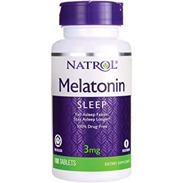 Natrol Melatonin 3 mg Sleep Time Release Dietary Supplement Tablets 100 ea