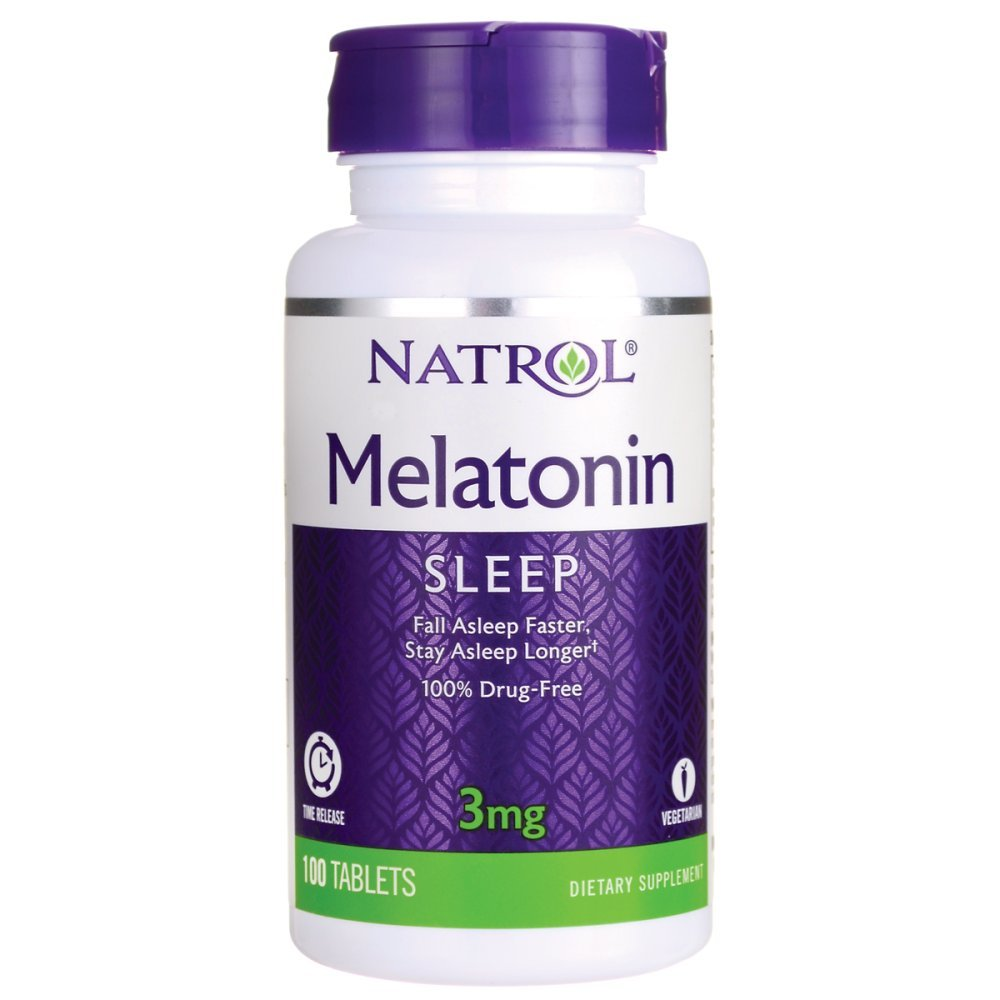 Amazon.com : Melatonin - Time Release, 1 mg 90 tab (TWO PACK ...