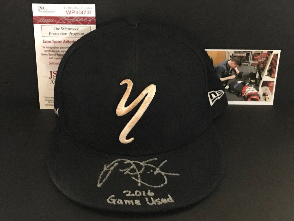 Autographed Nick Solak New York Yankees Signed 2016 Game Used Hat Cap JSA Certified