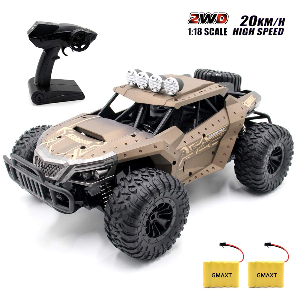 GMAXT Rc Cars,1803 Remote Control Car,1/18 Scale 20 Km/h,2.4Ghz 2WD High Speed Off-Road Vehicles with 2 Batteries,Give The Child Best Choice