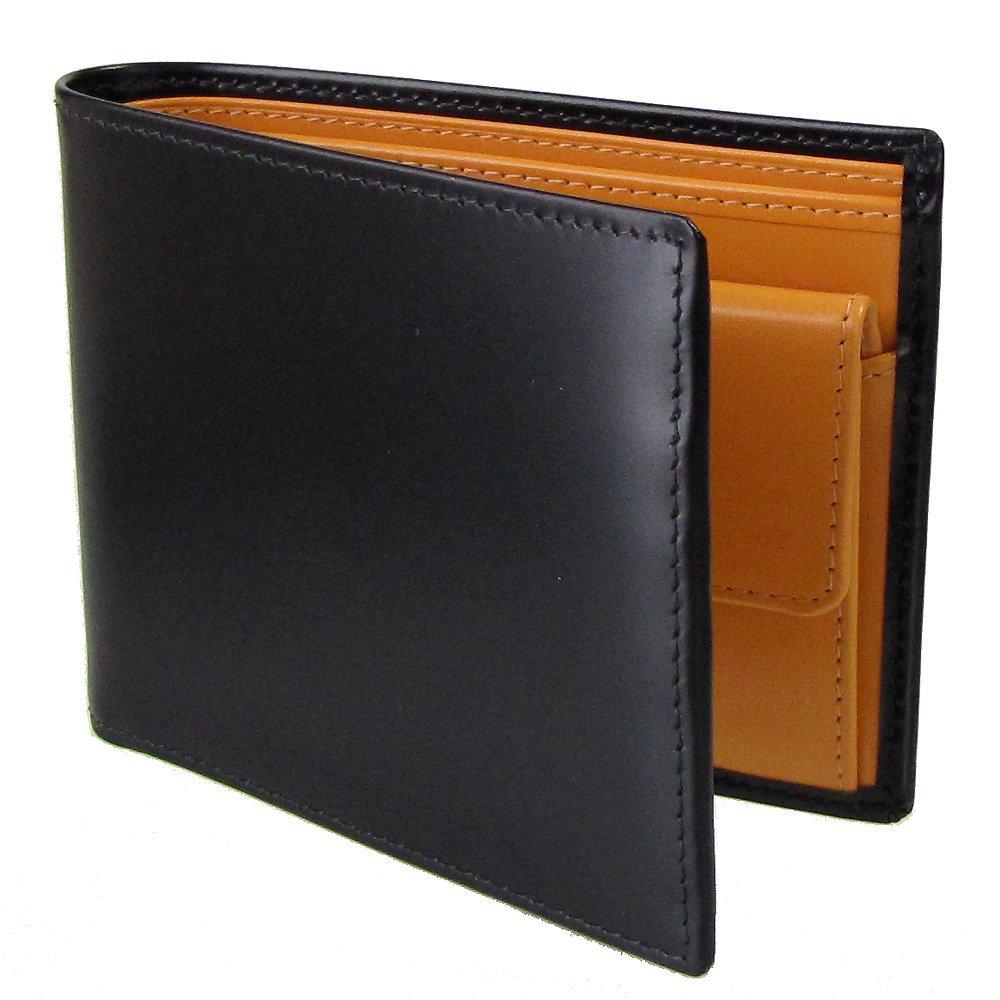 ETTINGER エッティンガー 二つ折り財布 メンズ ブライドルレザー BH 141JR BLACK ブラック 【並行輸入品】 B0096JM2OI