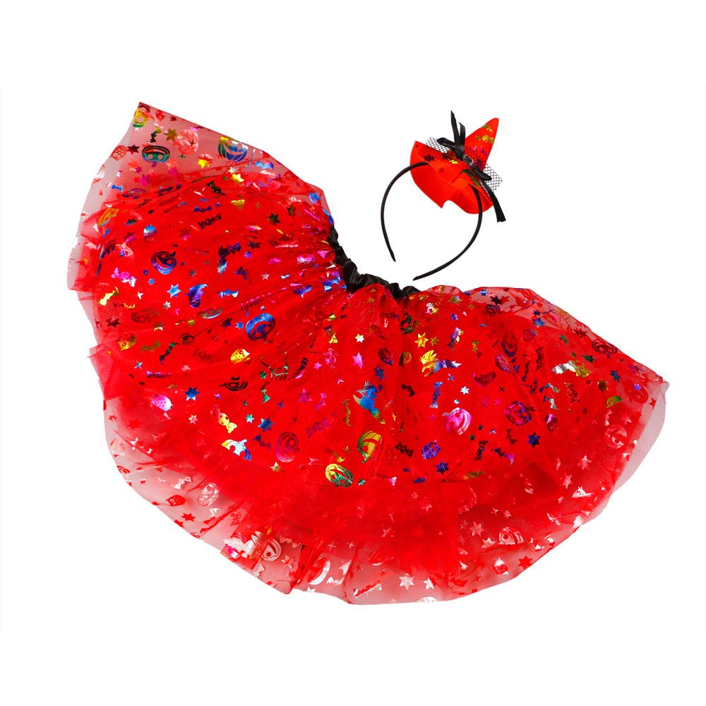 Deloito Kids Girls Tutu Dress with Headband Birthday Party Outfit Princess Halloween Cosplay Costumes Tulle Tutu Ballet Skirts Fancy Party Skirt Dance