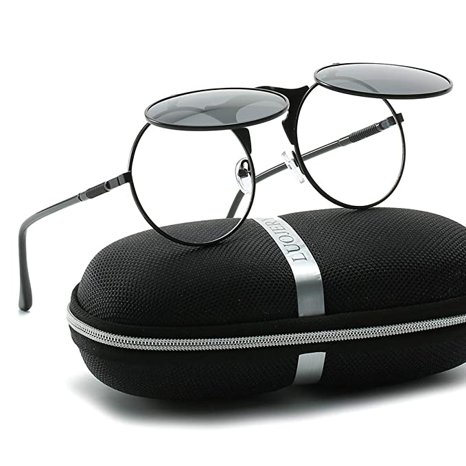 Amazon.com: Gafas de sol estilo retro redondas de los años ...