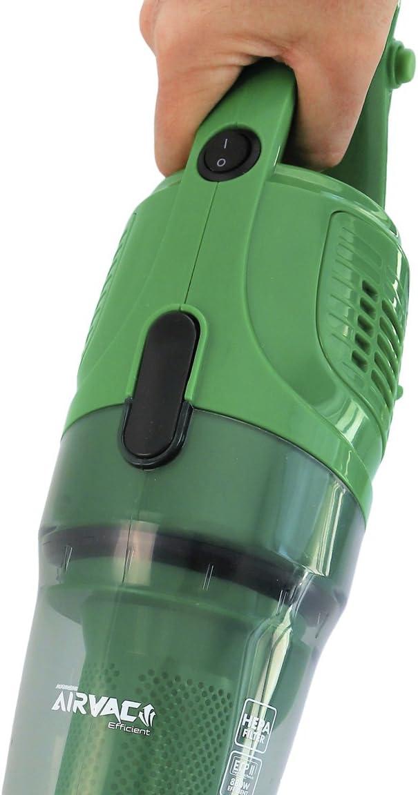 Aspiradora Vertical 2 en 1 de máxima potencia 880 WATT. Tecnología Ciclónica y filtro Hepa que previene alergias. Ahora mucho más silenciosa con la misma succión. Aspiromatic Airvac Efficient Full: Amazon.es: Hogar