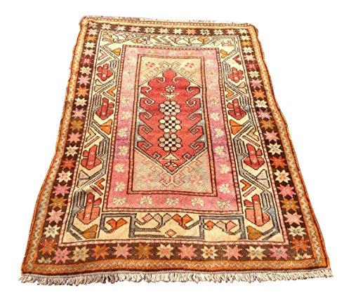 Vintage Anatolian Rug- 3′8″ × 5′5″