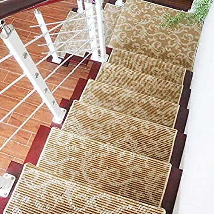 Uxjam Stair Tread Pad Home Free Non Plastic Non Slip Staircase Floor Mats