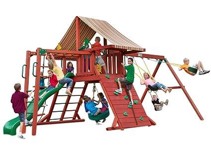 Amazon Com Gorilla Playsets Sun Climber Ii Swing Set Toys Games