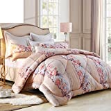 Comforter bed quilt down alternative quilted warm thick single double spring autumn winter-A 200x230cm(79x91inch)