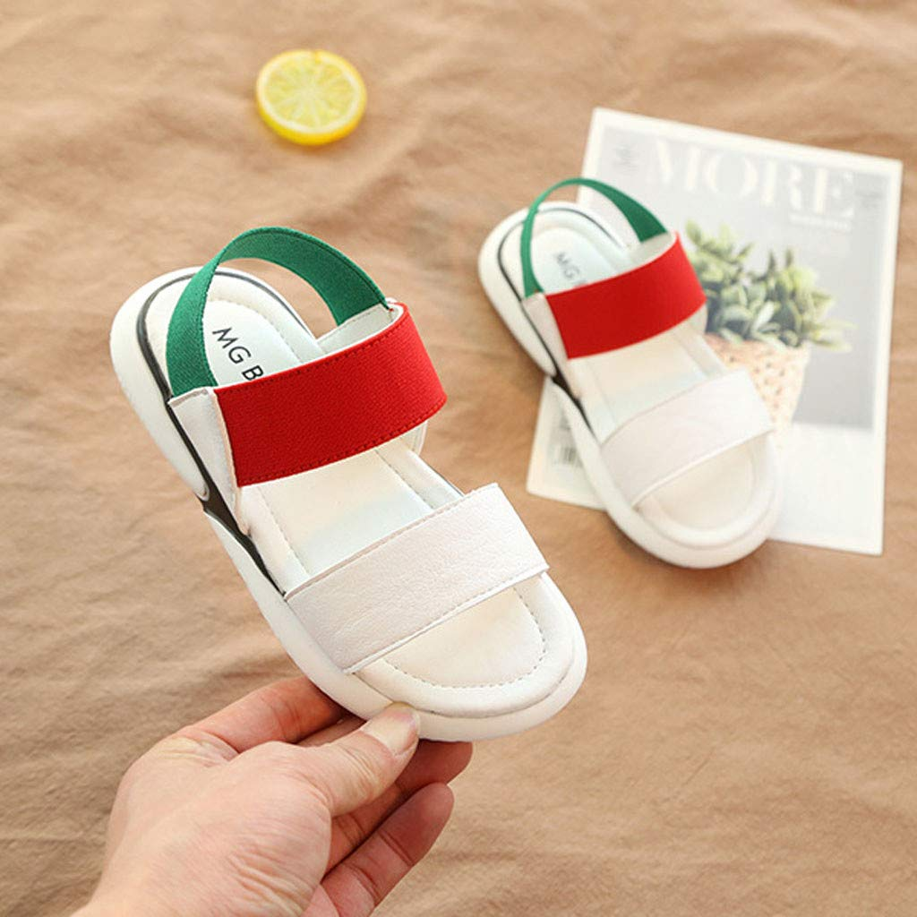 Kstare Baby Girls Fashion Casual Beach Shoes Summer Elastic Band Dancing Wedding Non-Slip Soft Bottom Sandals