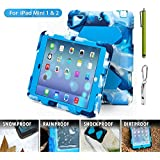 ACEGUARDER a 7 Global Design iPad Mini Snowproof, Waterproof, Dirtproof, Shockproof Cover Case with Stand