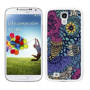 FUNDA CARCASA TPU GEL PARA GALAXY S4 ESTAMPADO FLORES BORDE BLANCO