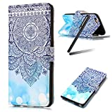 iPhone 8 Case,iPhone 7 Case,iPhone 8 Wallet Stand Case,iPhone 7 Wallet Stand Case,Flip Cover Case for iPhone 8,SKYMARS iPhone 7 Cover Gloss Skin 3D Creative Design Book Style PU Leather Flip Kickstand Cards Slot Wallet Magnet Protective Stand Case for iPhone 7 (2016) / iPhone 8 (2017) Blue Totem