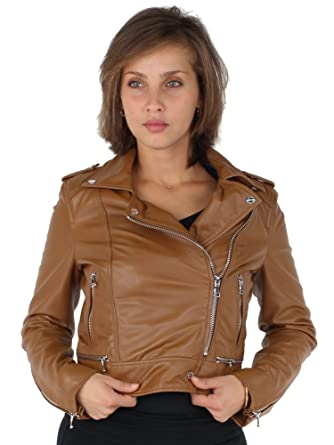 Oakwood veste en cuir brown
