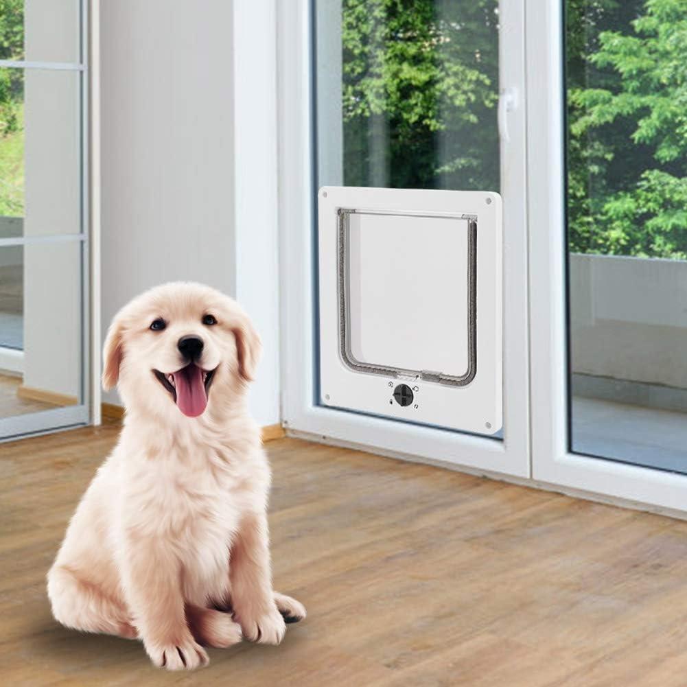 Flexible Pet Door Pet Flap Door Durable Four Types Of Rotation Plastic Pet Door Pet Use For Pet Cats White Amazon Ca Pet Supplies