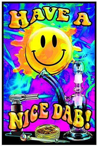Have A Nice Dab Blacklight Poster 23 x 35in