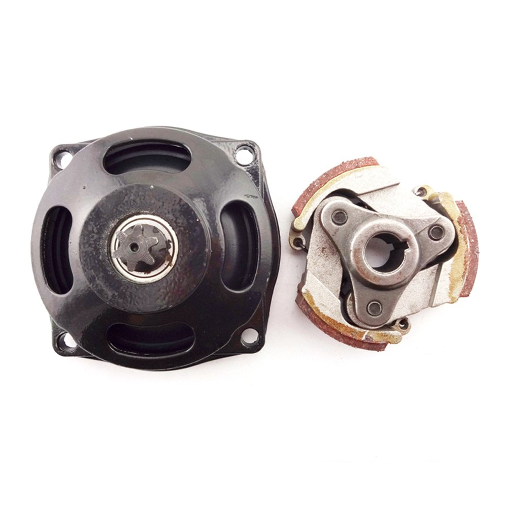 Race-GuyMinimoto Engine Parts 25H 6 Tooth Drum Gear Box With Clutch Pad For 2 Stroke 47cc 49cc Chinese Pocket Kids Quad ATV Dirt Bike