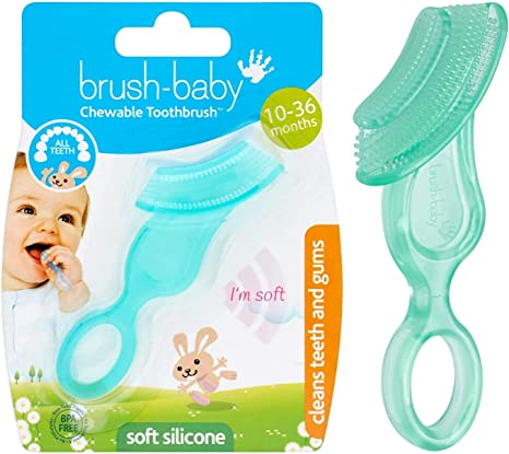 Safe Baby Teether Teething Dental Care Gift Chew Toys Silicone Toothbrush Babies