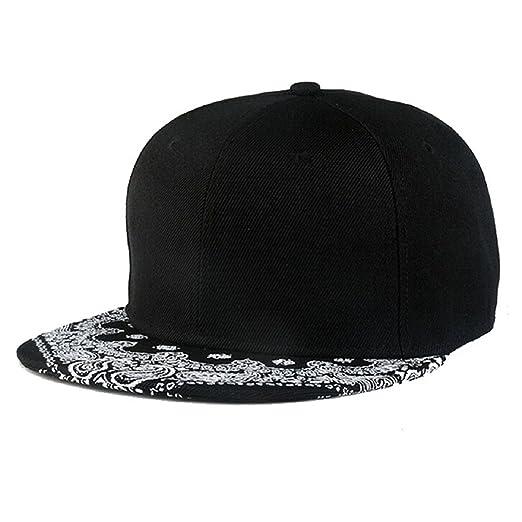 Amazon.com  Malloom Adjustable Paisley Snapback Bboy Hiphop Hat ... 023e4b68e6c